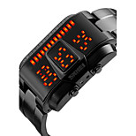 SKMEI® Men's Fashion Watch Digital LED / Calendar / Water Resistant/Water Proof Alloy Band Cool Black / Silver Brand