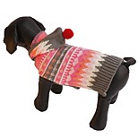 High Quality Rose Striped Cream Dog Sweater with Hoodie for Pets Dogs