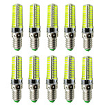 AC 220V E14 LED Lamp Dimmable Silicone Corn Bulb 80 SMD 5730 Replace Halogen Lamp Chandelier Crystal Light (10 Pcs)