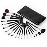 19 Makeup Brushes Set Nylon Professional / Portable Wood Face/Eye / Lip
