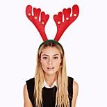 cabeça sino de Natal vermelho fivela de cabelo hoop hairbands chifres decorações de Natal rena Headband prop cabeça vestido extravagante