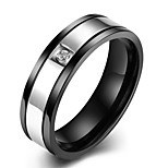 Ring Diamond Wedding / Party / Daily / Casual / Sports Jewelry Stainless Steel / Zircon Men Ring 1pc,7 / 8 / 9 / 10 Black