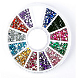 DIY  Nail Color 12 Flat Color Drill  1Pcs