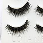 Eyelashes lash Full Strip Lashes Eyes Thick Handmade Fiber Black Band 0.07mm 13mm