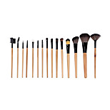 15 Makeup Brushes Set Synthetic Hair Portable Wood Face NFSS / Send Package