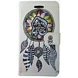 Painting Feather Dream Catcher PU Leather Flip Case with Magnetic Snap and Card Slot for iPhone 7/7 Plus/6S/6Plus/SE/5s/5C