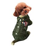 Dog Costume / Jacket Orange / Multicolor Dog Clothes Winter / Spring/Fall Britsh Cosplay / Keep Warm
