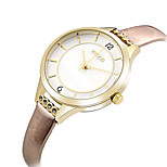 Women's Fashion Quartz Casual Watch Simple Cute Leather Belt Round Alloy Dial Watch Cool Watch Unique Watch