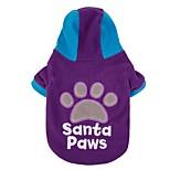 Katzen / Hunde Kostüme / Mäntel / Pullover / Kapuzenshirts / Austattungen / Overall / Jacke Blau / Purpur / Rose HundekleidungWinter /