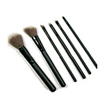 6 Makeup Brushes Set Synthetic Hair Portable Wood Face NFSS
