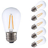 2W E26 LED Filament Bulbs S14 2 COB 200 lm Warm White Dimmable 120V 6 pcs