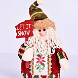 Santa Claus  Christmas Decorations Snowman Elk Doll Furnishing Articles  Pattern Is Random