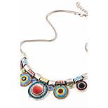 Splendid Womens Bib Statement Necklace Luxury Colorful Rhinestone Geometric Chunky Necklace Jewelry