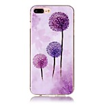 Dandelion Pattern HD Painted TPU Material Phone Shell For iPhone 7 7 Plus 6s 6 Plus