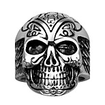 Fashion Jewelry more Styles Personality Biker Skull Ring Cool Mens 316L Stainless Steel Skeleton Finger Rings