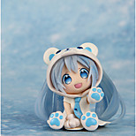 Cosplay Snow Q Miku PVC 7cm Anime Action Figures Model Toys Doll Toy Blue