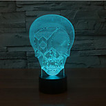 Terrorist Mask Touch Dimming 3D LED Night Light 7Colorful Decoration Atmosphere Lamp Novelty Lighting Christmas Light