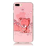 Bear Pattern HD Painted TPU Material Phone Shell For iPhone 7 7 Plus 6s 6 Plus