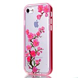 Para Funda iPhone 7 / Funda iPhone 6 / Funda iPhone 5 Transparente / Diseños Funda Cubierta Trasera Funda Flor Suave TPU AppleiPhone 7