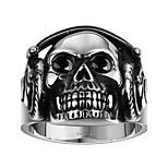 Ring Non Stone Skull Daily Casual Jewelry Steel Men Ring 1pc,8 9 10 11 Silver