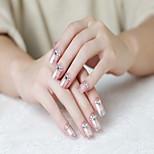 24 Pieces of Gum a Diamond Decoration False Nail Patch Manicure Finished