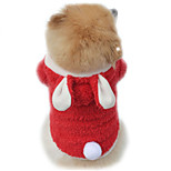 Cat / Dog Costume / Hoodie Red / Purple / Pink Dog Clothes Winter / Spring/Fall Solid Cute / Cosplay