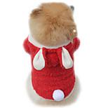 Gatti / Cani Costumi / Felpe con cappuccio Rosso / Viola / Rosa Abbigliamento per cani Inverno / Primavera/Autunno Tinta unitaDivertente