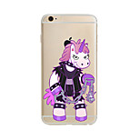 Para Funda iPhone 7 / Funda iPhone 6 / Funda iPhone 5 Traslúcido / Diseños Funda Cubierta Trasera Funda Animal Suave TPU AppleiPhone 7