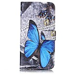 Butterfly Pattern Card Holder PU Leather case For iPhone 7 7 Plus