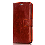 For iPhone 7 Case / iPhone 7 Plus Case / iPhone 6 Case Card Holder / Wallet / Flip Case Full Body Case Solid Color Hard PU Leather Apple