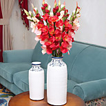1 Branch The Simulation Silk Flower  Orchid Gladiolus Decorative Flowers For Home & Garden