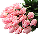12pcs Artificial Real touch Roses Flowers for Tabletop Decoration Home Decor 23.6 inch