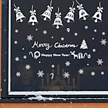 Merry Christmas Snowflake With Bells Wall Stickers