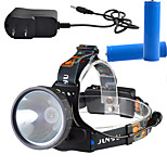LED Headlamp Head Lamp Waterproof Rechargeable Cycling Fishing Headlight 2x18650 Batteries AC Charger