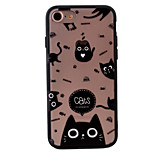 kitten Pattern Relief High Strength Touch Handle TPU Frame  Acrylic Material Phone Shell For iPhone 7  7Plus 6S 6 Plus