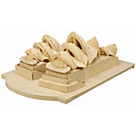 The Sydney Opera House  Puzzles Wooden Puzzles Building Blocks DIY Toys Famous buildings 1 Wood Ivory Puzzle Toy