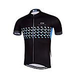 QKI Cycling Jersey Men's Short Sleeve Bike Breathable / Quick Dry / Anatomic Design / Front Zipper /Reflective Strips / reflective stripe