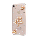 Voor Strass hoesje Achterkantje hoesje Bloem Hard PC AppleiPhone 7 Plus / iPhone 7 / iPhone 6s Plus/6 Plus / iPhone 6s/6 / iPhone SE/5s/5