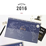 2016 Korean Calendar Map