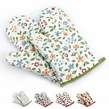 2 Pieces Pot Holder & Oven Mitt For Cooking Utensils / Bread / Cake / Cookie / Pizza Fabric Heat-insulated