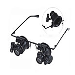 The Double  With LED Lights Magnifier With LED lights Indoor  Outdoor MultiFunction ABS Black