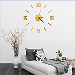 New Arrival 2016 Direct Selling Mirror Sun Acrylic Wall Clocks 3D Home Decor DIY Crystal Quartz Clock Art Watch
