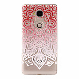 Red Flowers Pattern Painted Relief TPU Material Phone Case for Hawei 5X  Y625  Y635
