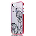 Transparent  Flower Pattern Case Back Cover Case  Soft TPU  for iPhone 7 Plus 7 6s Plus 6s 6 5s SE