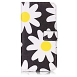 Chrysanthemum Pattern Card Holder PU Leather case For iPhone 7 7 Plus