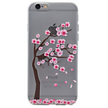 Cherry Tree Pattern TPU High Purity Translucent Soft Phone Case for iPhone 7 7Plus 6S 6Plus SE 5S 5