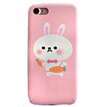Rabbit Pattern TPU Silk Material Pattern of Paste Skin Phone Case For iPhone 7 7 Plus