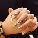 Mode Temperament Daumennagel Ring Gold NND Silber zwei Farbe passt 2pcs / set