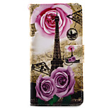 For Xperia X XA XP XZ Case Cover Tower Pattern Painting PU Leather Material Card Stent