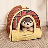Cat / Dog Bed Pet Mats & Pads Portable Brown Fabric